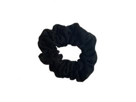 "Scrunchie Double Stitched ""Glitter""  Black"