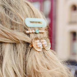 Hairclip set ''Sea Blue''