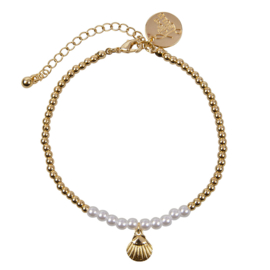 Anklet ''BEACH'' - Pearls & Shell