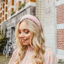 Teddy  headband - Pink
