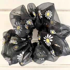 Scrunchie XL - DAISY - Black