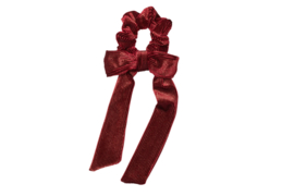 Scrunchie DELUXE- Rib Velvet Aubergine/Dark red