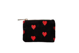 "Wallet ""SPREAD LOVE"" - Black & Red - XXS"