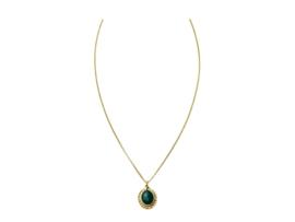 """""""Dark Green"""" Stone Necklace"""