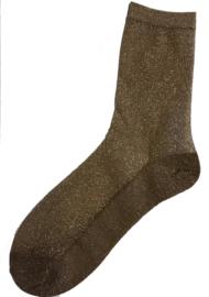 """Shiny feet"" Glitter socks - Nude"