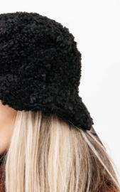 Teddy bucket hat - black