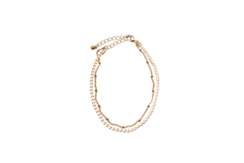 Double Chains Anklet - Gold