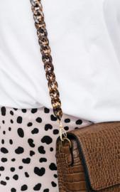 Marble Chain Bagbelt - Brown & Black