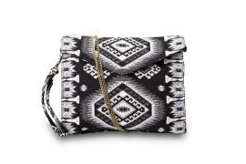 """Party ALL day"" Clutch black & white"