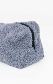 Teddy make-up bag - Blue/Grey