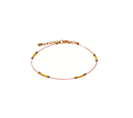 Happy Beads Anklet - Pink & Orange