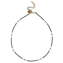 Happy Beads Necklace -  Black & White