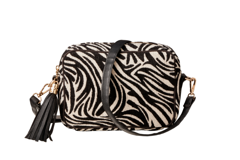 "Buluci Handbag - ""ZEBRA"" - Black & White"