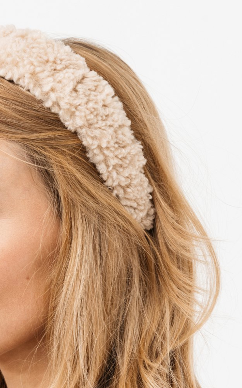 Teddy  headband - Beige