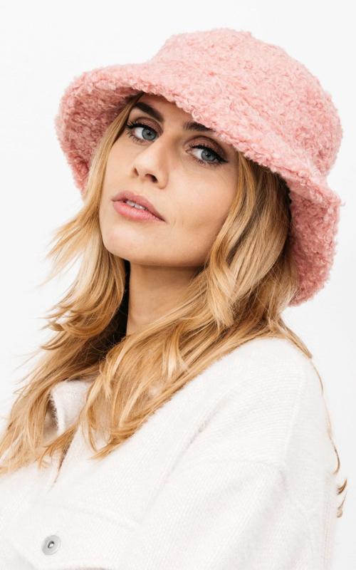 Teddy bucket hat - pink