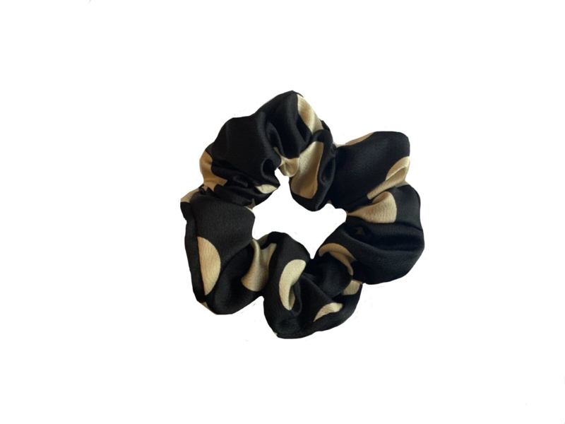"Scrunchie ""DOTS"" Black"