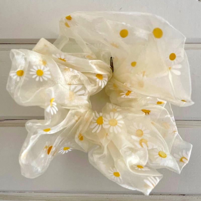 Scrunchie XL - DAISY - White