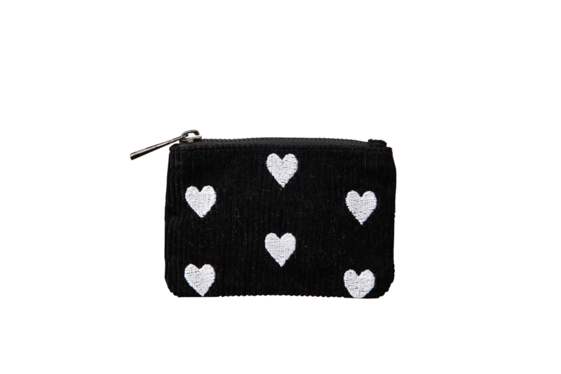"Wallet ""SPREAD LOVE""- Black & White - XXS"