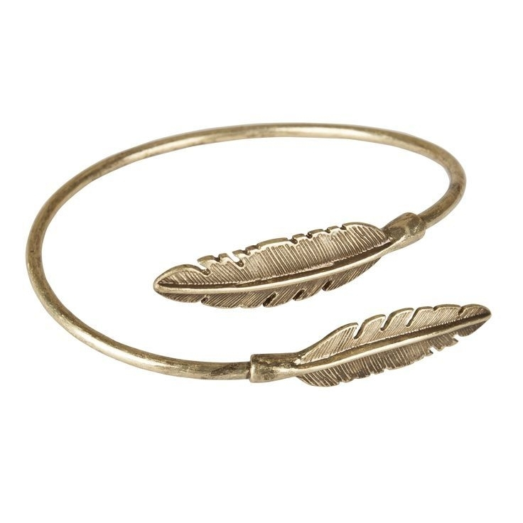 """""""Two feathers come together"""" Cuff-gold"""