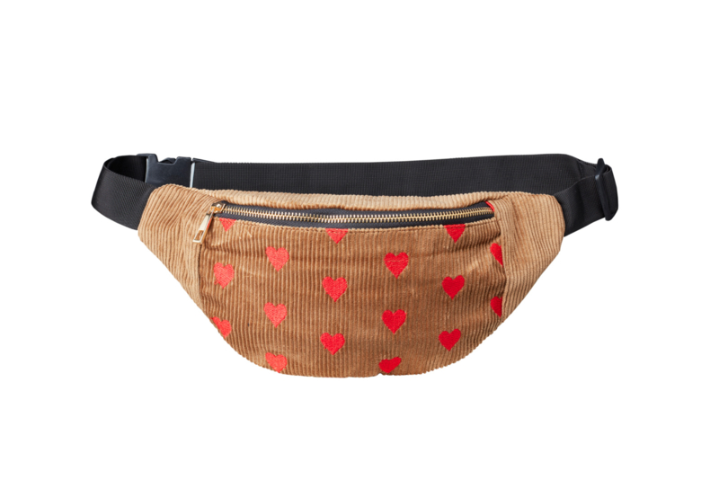"Bumbag  ""SPREAD LOVE"" - Beige & Red"