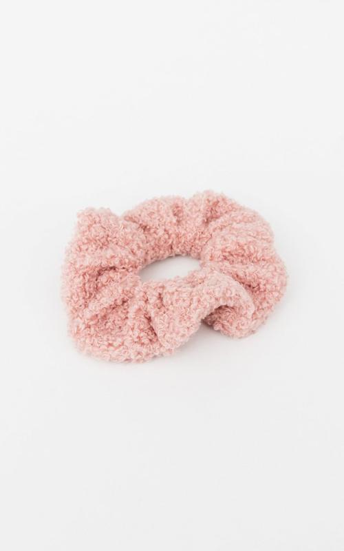 Teddy scrunchie -Pink