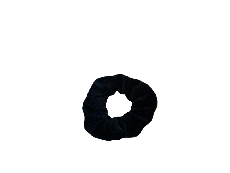 """Scrunchie Velvet """"UNI"""" - Black"""