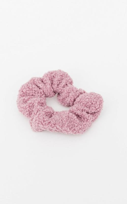 Teddy scrunchie - Lilac/Pink