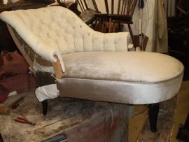 Gecapitonneerde chaise lounge
