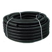 Zwarte slang met spiraal dunwandig