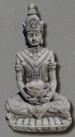 Mediterende boeddha 64cm met schaal