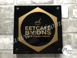 bedrijfsnaambordje Eetcafé By ons