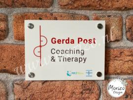 bedrijfsnaambordje Gerda Post