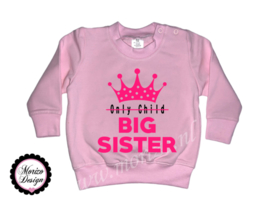 sweater Only child - Big sister kroon