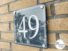 Huisnummerbordje met rand