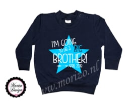 sweater I'm going to be a big brother ster
