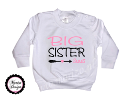 Sweater Big sister pijl *naam*