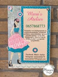 bedrijfsnaambordje Mara's Atelier