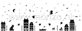 Raamversiering statisch kerst, herfst, sinterklaas, halloween, st maarten zwart