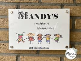 bedrijfsnaambordje Mandy's kinderkleding