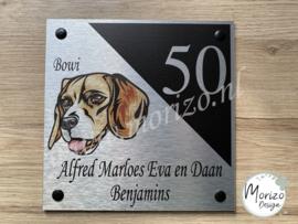 Naambordjes met honden