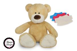 Knuffelbeer met shirt naam en geboortedatum