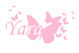 Deursticker vlinders *naam*