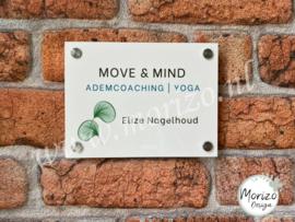 bedrijfsnaambordje Move & Mind