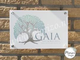 bedrijfsnaambordje Gaia