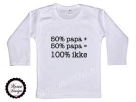 50% papa + 50% papa= 100 ikke