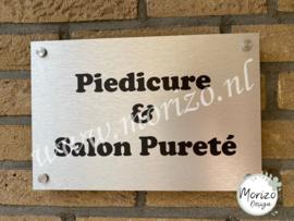 bedrijfsnaambordje Piedicure & Salon Pureté