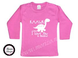 Shirt - Rawr means I love you in dinosaur 2
