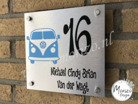 Naambordjes met voertuigen