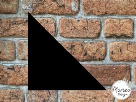 Plexiglas mat zwart driehoek 20x20cm