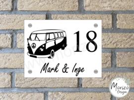 Naambordje met T1 volkswagen busje 2